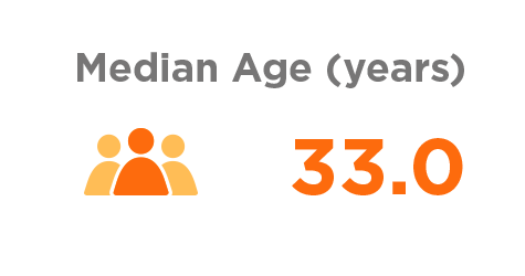graphic depicting median age.